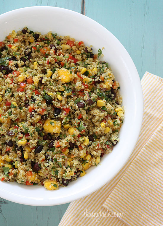 Southwestern Black Bean, Quinoa and Mango Medley – super healthy, perfect for lunch or as a side dish!