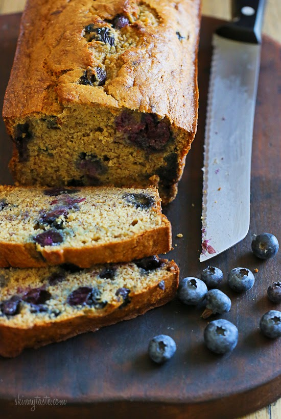 Blueberry Banana Bread – moist and low in fat!