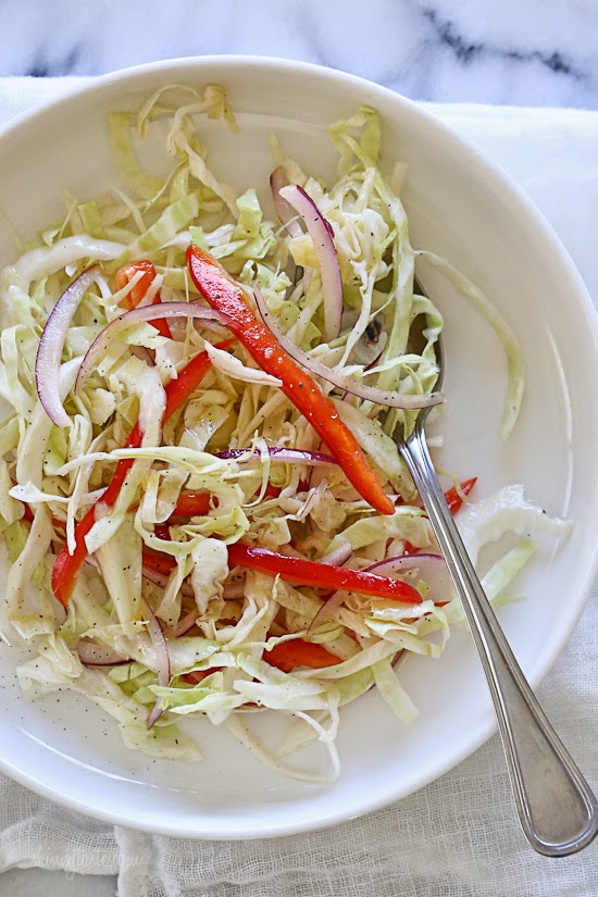 Quick Cabbage Slaw - a delicious quick healthy side dish
