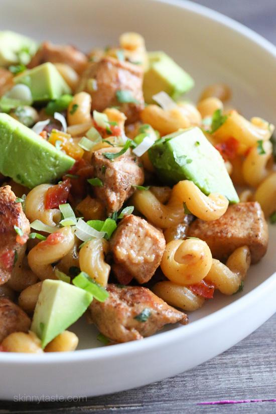 One-Pot Chicken Fajita Pasta –an easy Mexican inspired pasta dish!