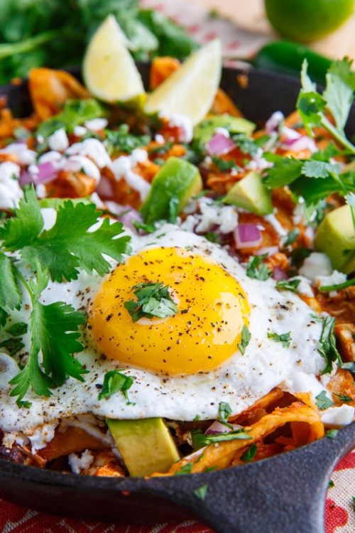 Chicken Enchilada Chilaquiles