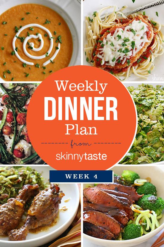 Skinnytaste Dinner Plan (Week 4)