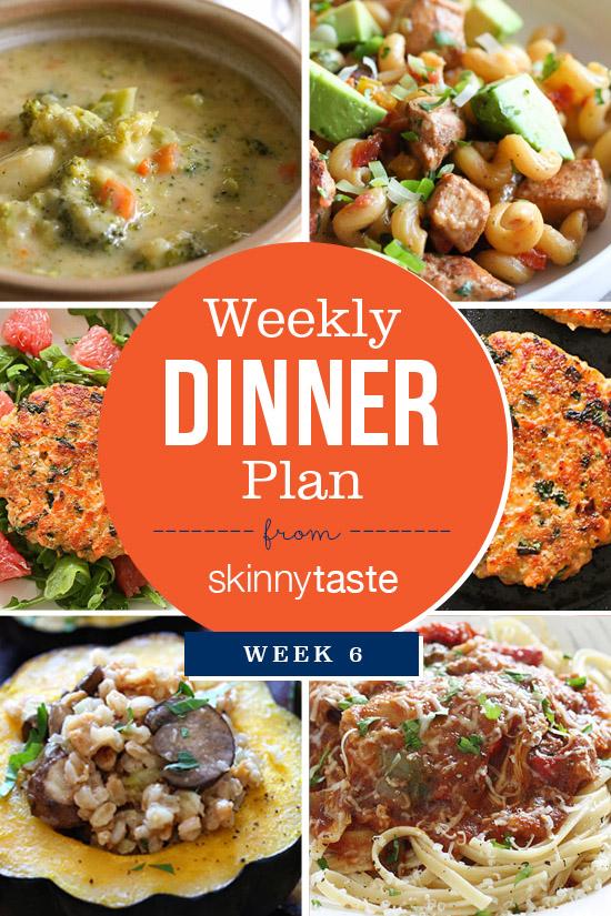Skinnytaste Dinner Plan (Week 6)