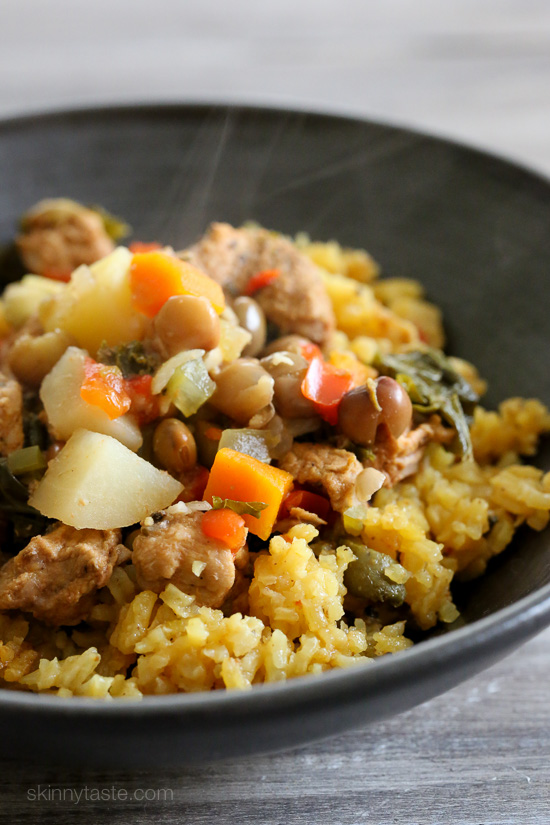 Slow Cooker Pork and Gandules (Pigeon Peas) Stew