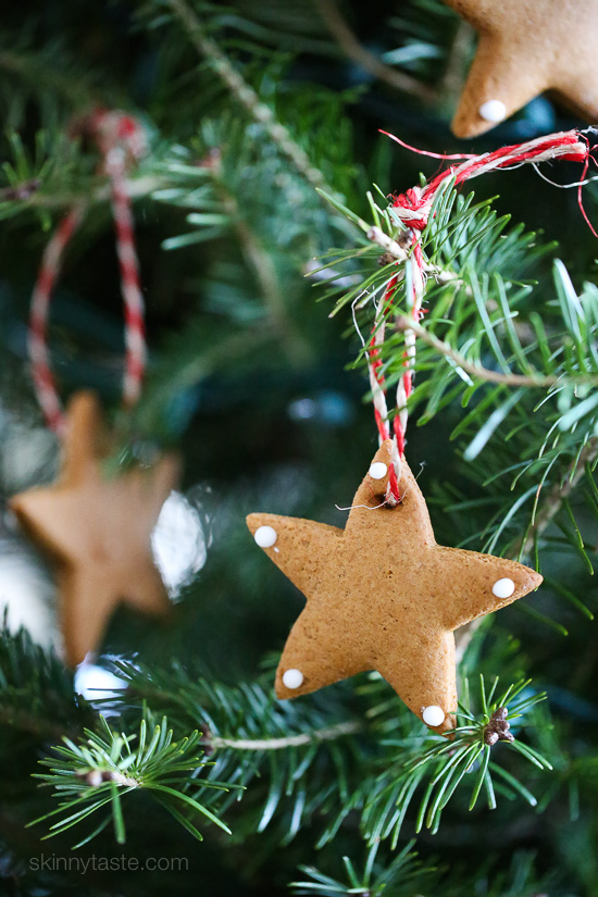 DIY Gingerbread Tree Ornaments – make Christmas ornaments out of gingerbread cookies. A fun project to do with the kids!