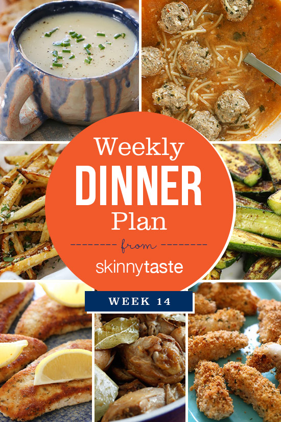 Skinnytaste Dinner Plan (Week 14)