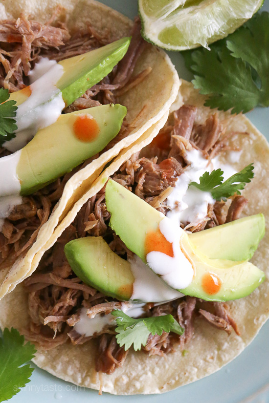 Instant Pot (Pressure Cooker) Mexican Pork Carnitas – perfect for tacos, burrito bowls, taco salads and more!