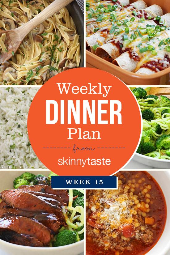 Skinnytaste Dinner Plan (Week 15)
