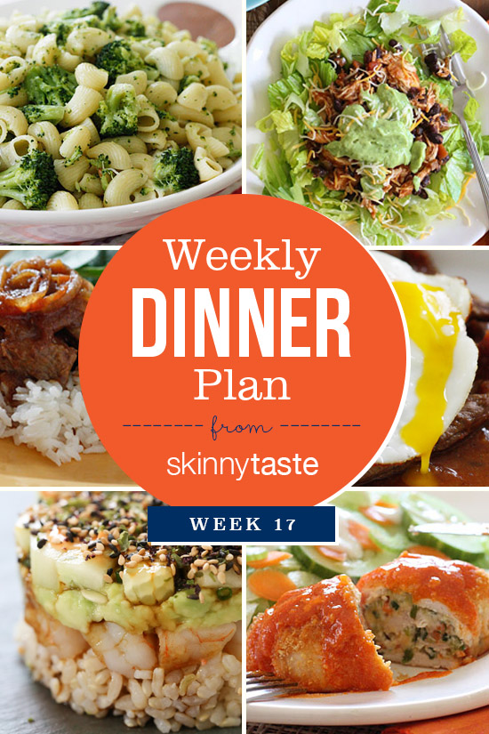 Skinnytaste Dinner Plan (Week 17)