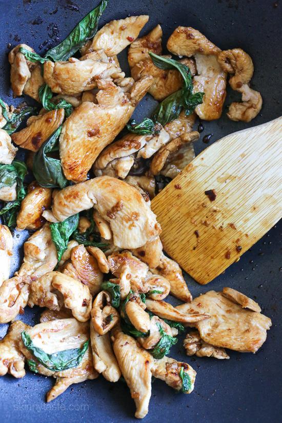 Thai Basil Chicken –a quick and easy chicken stir-fry dish.