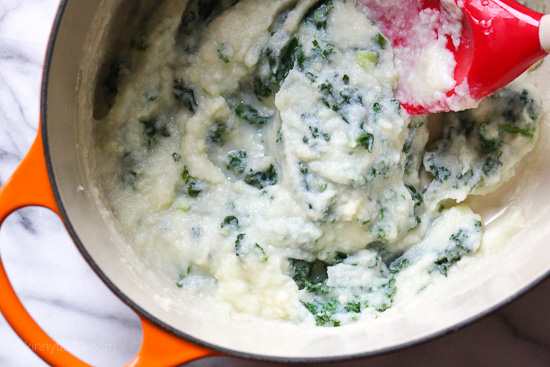 Creamy Cauliflower Mash with Kale (Low-Carb Colcannon)